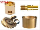 Подгонянная часть CNC высокой точности подвергая механической обработке латунная для машинного оборудования
