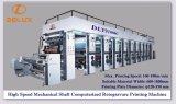 Impresora automática automatizada de alta velocidad del rotograbado con el mecanismo impulsor de eje del mecánico (DLY-91000C)
