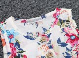 2017 متأخّر فاخر خاصّ بالأزهار يطبع أسلوب طفلة بنت فصل صيف قطب يمزح ثوب ملابس