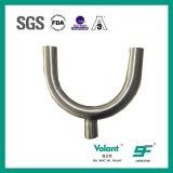 Montage van de Pijp van het T-stuk van het Type van U van het roestvrij staal de Sanitaire Gelaste