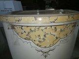 Twee Stukken van het Ceramische Decoratieve Toilet met Gouden Decoratie