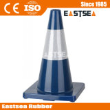 콘을 경고하는 710mm PVC 도로 안전 소통량 철탑