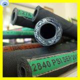 Boyau flexible en caoutchouc du boyau 2sn 2sc de pétrole hydraulique de tresse de fil