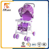 Poussette de bébé rouge de portée en plastique légère avec 6 roues d'EVA
