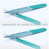 Sicurezza Surgical Blade/Safety Surgical Scalpel con Handle