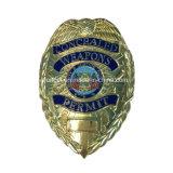 カスタマイズされた金によってめっきされる警察は卸しで記章を付ける