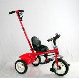 Véhicule de pédale de gosses et tricycle d'enfants avec la barre de poussée