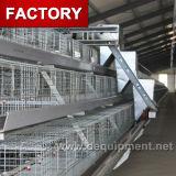 Cage de batterie de couche de poulet de 4 rangées pour la ferme avicole de la Tanzanie