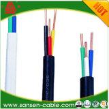 Double câble de fil électrique isolé de faisceau de cuivre simple de PVC