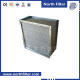 Filtre moyen à flasque de séparateur pour la purification de l'air