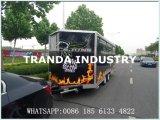 Rimorchio mobile del pollo del Rotisserie del veicolo della cucina di Tuk Tuk dell'alimento della via