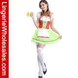 Женщины Oktoberfest шнуруют вверх Costume Cosplay платья девушки пива профилировщика причудливый