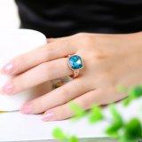 Ring van de Boor van het Glas van de Verkoop van de buitenlandse Handel nam de Blauwe Tsjechische de Gouden Geplateerde Juwelen van de Manier toe