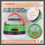 Wasserdichte Lithium-Batterie der USB-kampierende Laterne-Taschenlampen-magnetische Unterseiten-3.7V4400mAh
