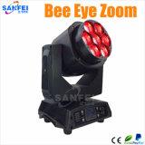 Indicatore luminoso capo mobile del fascio dello zoom dell'occhio dell'ape del LED 7PCS*15W RGBW