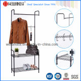 Moderno Epoy Revestido Black Steel Wire Garment Cloth Hanger Rack