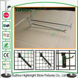 Ganchos de leva dobles y solos de la visualización del metal del estante del acoplamiento de alambre del polvo