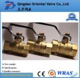 Válvula de esfera de bronze 3/4 da entrega rápida da manufatura do fornecedor de China