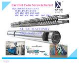 PVC/PP/PE/ABSの放出機械のためのParalleの対ねじ