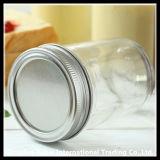 Tarro de cristal claro del atasco/tarro recto de cristal