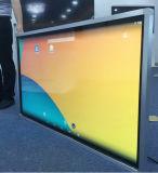 65inch que hace publicidad del quiosco montado en la pared del monitor de la pantalla táctil del indicador digital del panel del LCD