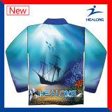Ontwerp Uw Eigen Lange Overhemden van de Sweater van de Visserij van de Koker Hoogtepunt Gesublimeerde