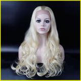 Высокого качества парик фронта шнурка волос длиной курчавый синтетический