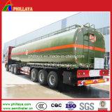 Camions-citernes en acier acides de réservoir de prix usine de remorque liquide chimique semi