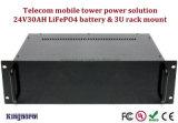 Batería móvil de la emergencia 24V 30ah LiFePO4 de la central eléctrica