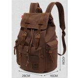 La lona de encargo empaqueta el bolso de libro unisex de escuela de la taleguilla de la mochila de Daypack del morral de la lona de la vendimia
