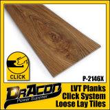 CER zugelassene Klicken-Verriegelung PVC-Vinylfußboden-Fliesen (P-2146)