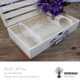 Коробка вина естественного цвета Hongdao деревянная для Gift_D