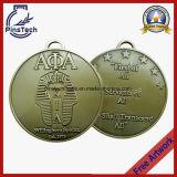 2D Médaille molle d'émail, placage argenté antique, aucun MOQ