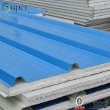 軽量EPS泡によって絶縁される鋼鉄サンドイッチ屋根または壁の金属のパネル