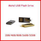 Movimentação do flash do USB de Pendrive do metal impermeável do disco de U mini