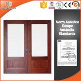 Portello interno solido di legno di quercia rossa per il cliente della California