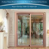 De nieuwe Hangende Schuifdeur van het Aluminium van het Comité van het Glas van de Laag van het Ontwerp Decoratieve Dubbele Binnenlandse