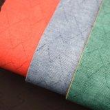 Cuoio impresso molle della spugna del PVC per tessuto rivestito del PVC del sacchetto il poli