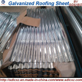 0.13mm-0.8mm China Dx51d galvanisiertes gewölbtes Stahlblech-Dach-Stahlblatt