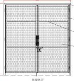 Puerta de la entrada de la calzada de la alta calidad