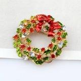 여자 귀여운 작풍 소녀 형식 보석을%s 다색 Bow-Knot 화환 브로치 핀을%s 새로운 도착 크리스마스 모조 다이아몬드 브로치