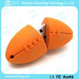 선물 (ZYF5045)를 위한 주문 럭비 모양 USB 섬광 드라이브