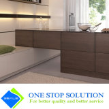 Veneer and White Color Finish Cupboard Kitchen Cabinet Furniture (ZY 1185)