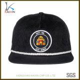 Chapeau de chapeau de Snapback de corde de velours côtelé de panneau de la coutume 5