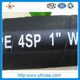 Il filo di acciaio ad alta pressione di En856 4sp si è sviluppato a spiraleare tubo flessibile di gomma