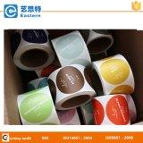 Étiquette des aliments adhésive ronde d'impression de couleur