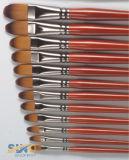 Cepillo de pintura del nilón/de la cerda con la maneta de madera
