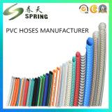 Boyau tressé de tissu-renforcé hydraulique à haute pression en plastique de pipe de jet d'air de PVC