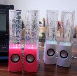 Mini luz de la fuente de la música de la demostración del agua del baile del LED Altavoz-Roja