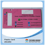 Carte en plastique de cadeau de code de PVC de vente directe d'usine